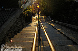 Photo : Escalier de Montmartre, Rue Maurice Utrillo, Montmartre, Paris (75)