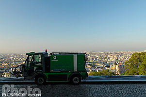 Photo : Propreté de Paris, Butte Montmartre, Paris (75)