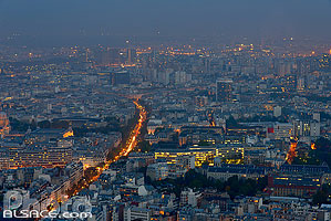 Photo : Paris la nuit vue depuis la Tour Montparnasse, Paris (75)