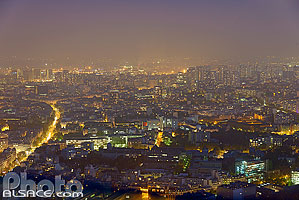 Photo : Paris la nuit (Quartier Italie) vue depuis la Tour Montparnasse, Paris (75)