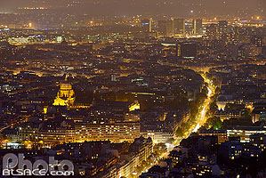Photo : Paris la nuit (Boulevard de Port Royal) vue depuis la Tour Montparnasse, Paris (75)