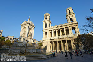 Photo : Place et église Saint-Sulpice, Paris (75)
