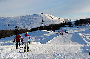 Photo : Vosges (88), Piste de ski de la Bresse et le Hohneck // FRANCE, Vosges (88), La Bresse ski track and the Hohneck