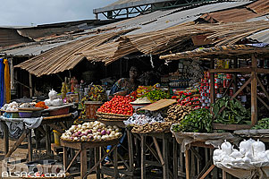 Photo : Grand Marché de Porto-Novo, Ouémé, Bénin