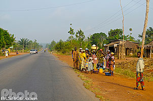 Photo : Route RNIE2, Sékou, Allada, Atlantique, Bénin