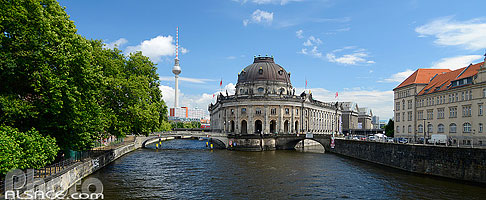 Photo : La Spree et le Bode Museum, Museuminsel, Mitte, Berlin, Allemagne, Berlin, Allemagne