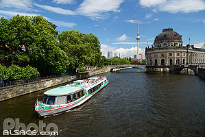 Photo : La Spree et le Bode Museum, Museuminsel, Mitte, Berlin, Allemagne