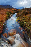 Photo : Ruisseau, Rannoch Moor, Highlands, Scotland, United Kingdom