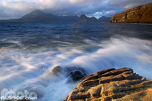 Photo : Loch Scavaig et Cuillin Hills, Elgol, Isle of Skye, Highlands, Scotland, United Kingdom, Highlands, Scotland