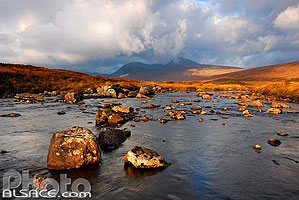 Lochan na Stainge et Black mount, Rannoch Moor, Highlands, Scotland, United Kingdom, Highlands, Scotland