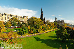 Princes Street Garden et Scott Monument, Edinburgh, Lowlands, Scotland, United Kingdom, Lowlands, Scotland