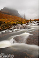 Photo : Russel Burn et Coire a Chaorachain, Wester Ross, Highlands, Scotland, United Kingdom