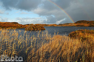 Photo : Arc-en-Ciel au-dessus du Loch an Arbhair, Inverkirkaig, Inverpolly, Wester Ross, Highlands, Scotland, United Kingdom, Highlands, Scotland