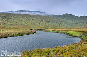 Photo : River Dionard et Beinn Spionnaidh, North West Sutherland, Highlands, Scotland, United Kingdom, Highlands, Scotland