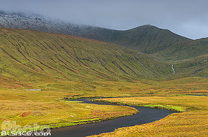 Photo : River Dionard et Beinn Spionnaidh, North West Sutherland, Highlands, Scotland, United Kingdom
