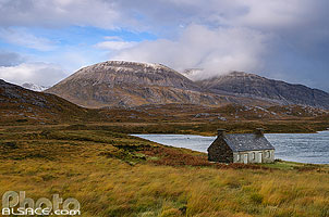 Photo : Loch Stack et Arkle, North West Sutherland, Highlands, Scotland, United Kingdom