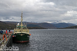 Photo : Ullapool pier, Wester Ross, Highlands, Scotland, United Kingdom, Highlands, Scotland