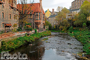 Photo : Water of Leith, Dean Village, Edinburgh, Lothian, Scotland, United Kingdom
