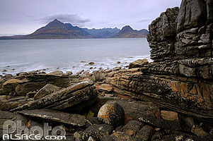 Photo : Loch Scavaig et Cuillin Hills, Elgol, Isle of Skye, Highlands, Scotland, United Kingdom, Higlands, Scotland