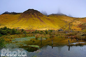 Photo : Old Man of Storr dans la brume, Isle of Skye, Highlands, Scotland, United Kingdom