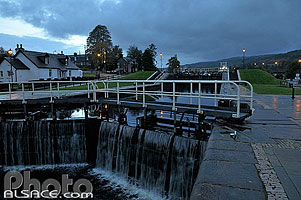 Photo : Ecluses de Fort Augustus, Caledonian Canal, Fort Augustus, Highlands, Scotland, United Kingdom, Higlands, Scotland