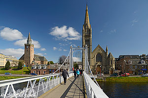 Greig Street Bridge, Inverness, Inverness-shire, Ecosse, Royaume-Uni // Greig Street Bridge, Inverness, Inverness-shire, Highlands, Scotland, United Kingdom, Higlands, Scotland