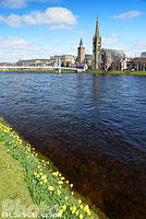 Photo : River Ness et Greig Street Bridge, Inverness, Inverness-shire, Highlands, Scotland, United Kingdom