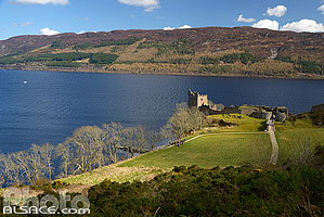 Urquhart castle, Loch Ness, Inverness-shire, Highlands, Scotland, United Kingdom