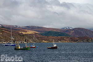 Ullapool pier, Wester Ross, Highlands, Scotland, United Kingdom