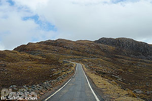 Single Track Road, Applecross, Wester Ross, Highlands, Scotland, United Kingdom