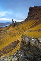 Photo : Old Man of Storr et le Storr, Isle of Skye, Highlands, Scotland, United Kingdom