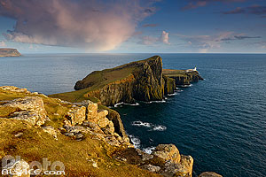 Neist Point Lighthouse, Isle of Skye, Highlands, Scotland, United Kingdom, Higlands, Scotland