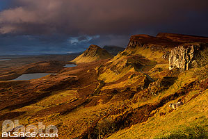 Photo : Loch Leum na Luirginn, Cleat et Bioda Buidhe, Trotternish, Isle of Skye, Highlands, Scotland, United Kingdom, Higlands, Scotland
