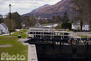 Photo : Neptune's Staircase, Caledonian Canal, Fort William, Inverness-shire, Highlands, Scotland, United Kingdom, Higlands, Scotland