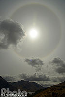 Photo : Halo solaire, Glenfinnan, Inverness-shire, Highlands, Scotland, United Kingdom