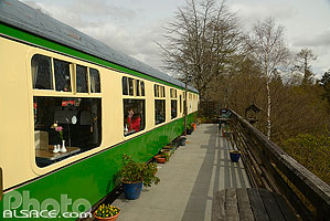 Photo : Glenfinnan station museum dining car, Inverness-shire, Highlands, Scotland, United Kingdom