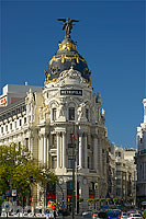 Photo : Edificio Metropolis, Calle Alcala et Grand Via, Madrid, España