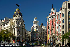 Photo : Edificio Metropolis et Grassy, Gran Via, Madrid, España