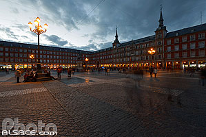 Photo : Plaza Mayor la nuit, Madrid, España, Comunidad de Madrid, España