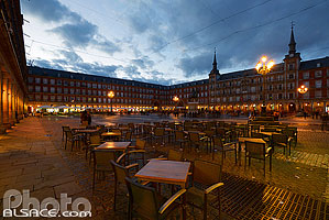 Photo : Plaza Mayor la nuit, Madrid, España