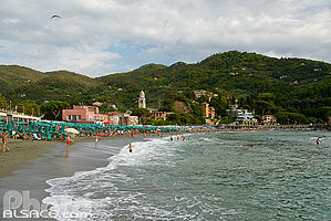 Photo : Plage de Levanto, Ligurie, Italie