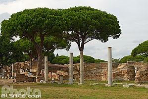 Photo : Ostie (Ostia Antica) ancien port de la Rome antique, Rome Latium, Italie