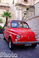 Photo : Fiat 500, Noto, Sicile, Italie