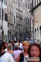 Photo : Via San Giovanni, San Gimignano, Toscane, Italie