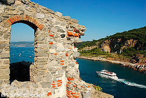 Photo : Citadelle, Portovenere, Ligurie, Italie