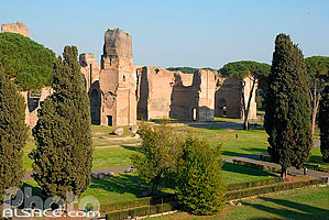Photo : Terme di Caracalla (Thermes de Caracalla), Roma, Latium, Italie