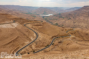 Photo : Panorama du Wadi Mujib et la route du Roi (King's Highway), Madaba, Jordanie