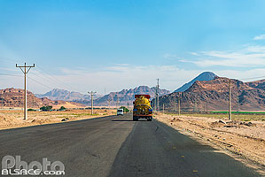 Photo : Wadi Rum Road, Aqaba, Jordanie