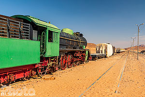 Photo : Station de train du Wadi Rum (Wadi Rum Station), Aqaba, Jordanie