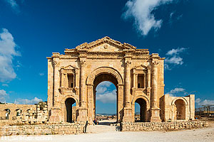 Photo : Arc d'Hadrien, Cité antique de Jerash, Jordanie